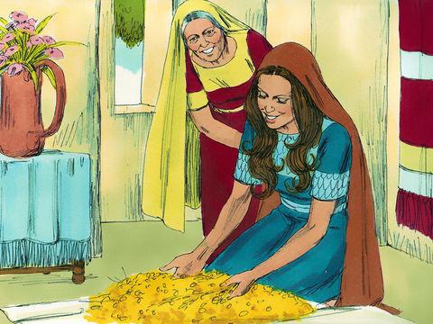 Ruth, la belle-fille de Naomi, vaut mieux que 7 fils, tant elle a de belles qualités.