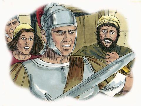 L'abomination, ce sont les armées romaines. L'abomination qui se tient en un lieu saint désigne les forces militaires qui se tiennent dans la ville sainte. C'est l'armée du général Caius Cestius Gallus qui a encerclé Jérusalem , la ville sainte en l'an 66