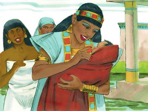 Moïse est sauvé par la fille de pharaon