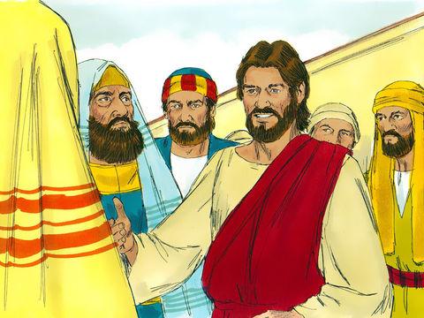 Les pharisiens qui tiennent Abraham en très haute estime refusent pourtant de réaliser que la postérité promise est juste devant eux : Jésus !  Alors qu'ils se moquent du Messie, Jésus leur répond qu'il existe depuis plus longtemps qu'Abraham !