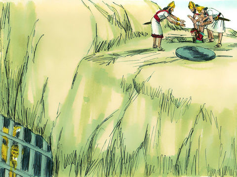 Daniel est jeté dans la fosse aux lions.