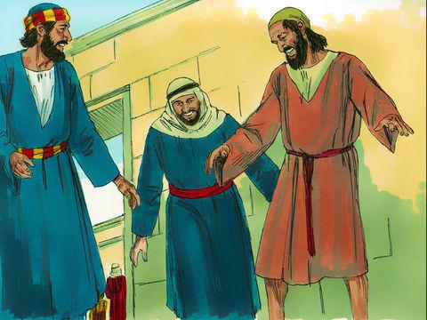 Actes 3 :7 : « Puis il le prit par la main droite et le fit lever. Ses pieds et ses chevilles s'affermirent immédiatement »