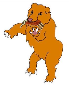 4 bêtes qui sortent de la mer dans la prophétie de Daniel. La deuxième ressemble à un ours, elle correspond à l'empire médo-perse.