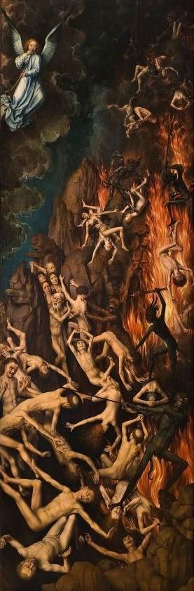 Pour les catholiques, à la mort, les âmes jugées mauvaises sont condamnées à une éternité de souffrances dans un enfer de feu inextinguible. D'autres seront purifiés au purgatoire, afin d'obtenir la sainteté nécessaires pour entrer dans la joie du ciel.