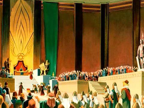 Quand Jéhovah a dit à Salomon qu'il lui donnerait ce qu'il désire, Salomon ne demande ni richesse ni pouvoir, voici ce qu'il demande à Dieu : accorde-moi de la sagesse et de la connaissance afin que je sache diriger ce peuple!