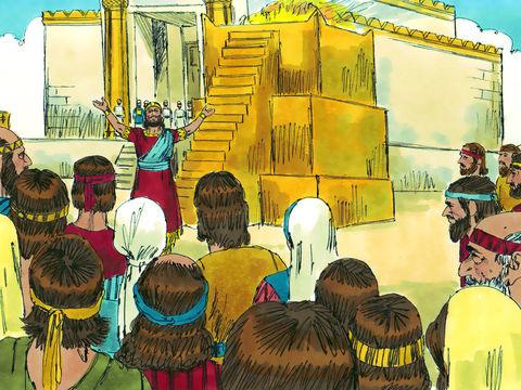 Lors de l'inauguration du premier Temple, le roi Salomon fait une prière dans laquelle il demande à Jéhovah que si le ciel est fermé et qu'il n'y a plus de pluie à cause de leurs péchés, s'ils prient dans ce Temple, écoute-les et pardonne leurs péchés.