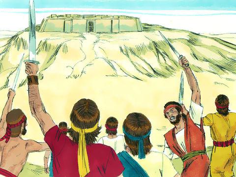 Le roi marcha avec ses hommes sur Jérusalem contre les Jébusiens, qui habitaient le pays. David s'empara (…) de la forteresse de Sion, c'est-à-dire la ville de David. David s'installa dans la forteresse, qu'il appela ville de David.