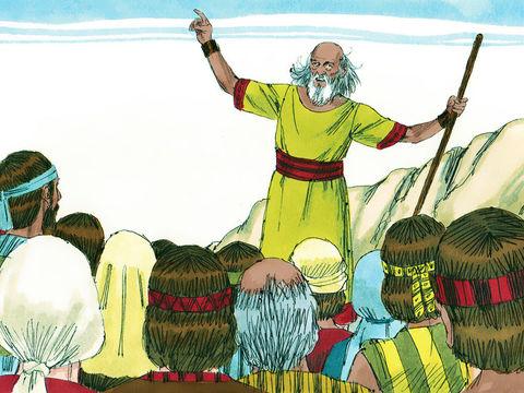Les Israélites réclament un roi comme on en trouve dans toutes les autres nations au prophète Samuel. Dieu accède à leur requête mais montre son mécontentement en faisant retentir de puissants tonnerres et en faisant tomber la pluie.