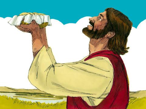 Jésus a rompu les 7 pains pour nourrir une foule de 4000 hommes.