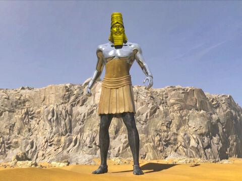 La statue géante du rêve du roi Nébucadnetsar de Babylone décrit la succession des puissances mondiales de Babylone (la tête en or) au temps de la fin (les pieds en fer et argile).