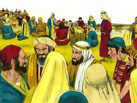 Jésus est ému de pitié devant les foules qui le suivent depuis plusieurs jours et n'ont rien à manger.