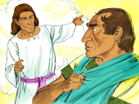 Corneille le premier non-juif à devenir chrétien reçoit, à 3h de l'après-midi, la visite d'un ange qui lui demande de faire venir Pierre. Corneille envoie 3 hommes chercher Pierre. Symbolisme du nombre 3.