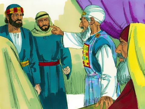 Les responsables juifs menacent les apôtres Pierre et Jean et leur interdisent d'enseigner au nom de Jésus.