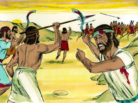 Les trompettes, dans la Bible, sont associées à la voix de Yahvé et à celle de Jésus.Elles annoncent des victoires divines, rappelons-nous Josué et les murailles de Jéricho et les 300 hommes de Gédéon contre 135'000 Madianites.