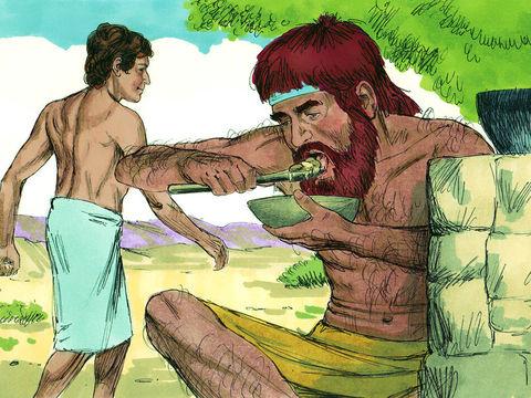 Ne méprisons pas les choses saintes, comme Esaü qui, pour un simple repas, a vendu son droit d'aînesse à son frère Jacob.