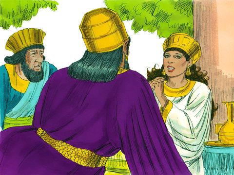 La reine Esther dévoile son identité juive et le complot qui vise les siens. :   « La reine Esther répondit: «Si j'ai trouvé grâce à tes yeux, roi, et si tu le juges bon, accorde-moi la vie sauve, voilà ma demande, et sauve mon peuple, voilà mon désir!