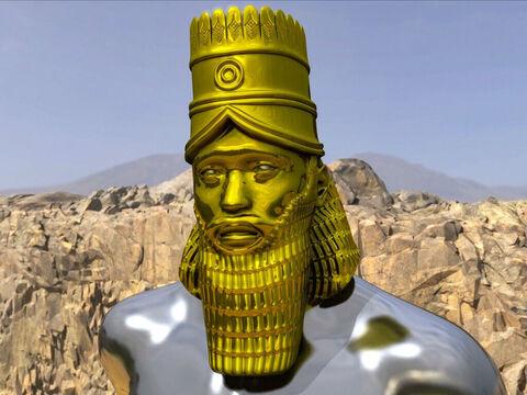 La première bête qui ressemble à un lion représente incontestablement l'Empire babylonien. Elle correspond aussi à la tête en or de la statue immense du rêve prophétique de Nébucadnetsar qui doit laisser la place à l'argent, la puissance médo-perse.