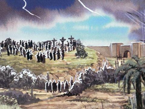 la ville appelée Sodome et Egypte. Cette ville rappelons-le symbolise le monde entier caractérisé par l'immoralité et l'idolâtrie.