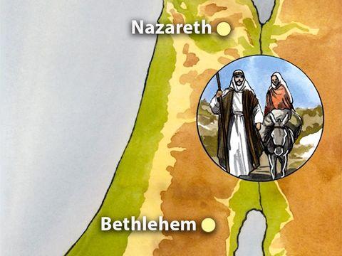 A cette époque-là parut un édit de l'empereur Auguste qui ordonnait le recensement de tout l'Empire. Tous allaient se faire inscrire, chacun dans sa ville d'origine. Joseph aussi monta de la Galilée, de Nazareth, pour se rendre en Judée, à Béthléem.
