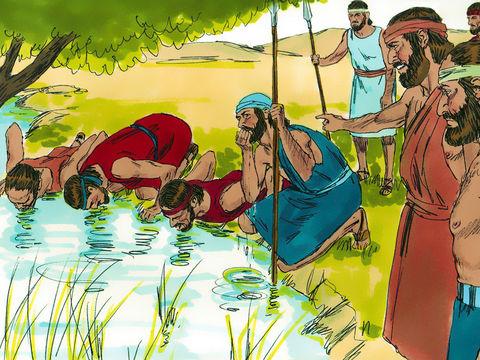 Gédéon sélectionne 300 hommes pour vaincre les 120'000 Madianites.
