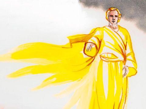 L'ange apparaît à Joseph qui se prépare à rompre ses fiançailles avec Marie.