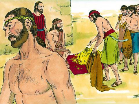 """Le roi David a accumulé d'immenses richesses pour l'édification du Temple de Jéhovah. Mais, en raison du sang qui a coulé au cours des nombreuses guerres, c'est à Salomon qu'est revenu le privilège de construire « la maison de Jéhovah""""."""