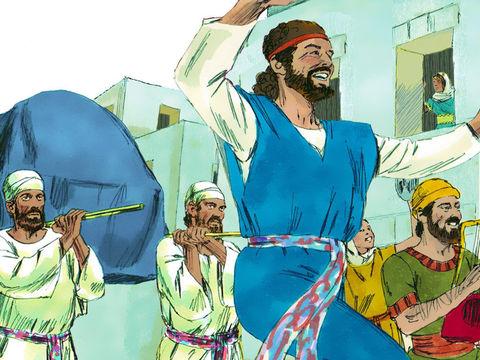 Puis David rassembla tout Israël à Jérusalem pour faire monter l'arche de Jéhovah vers son emplacement, celui qu'il avait préparé pour elle. »