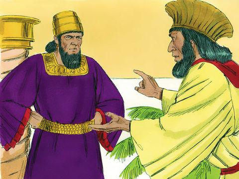 L'un des princes dit que l'attitude de la reine déteindra forcément sur l'ensemble des femmes et les incitera à porter un regard méprisant sur leur mari. Il conseille donc d'établir un édit royal qui interdirait à Vashti de se présenter devant le roi.