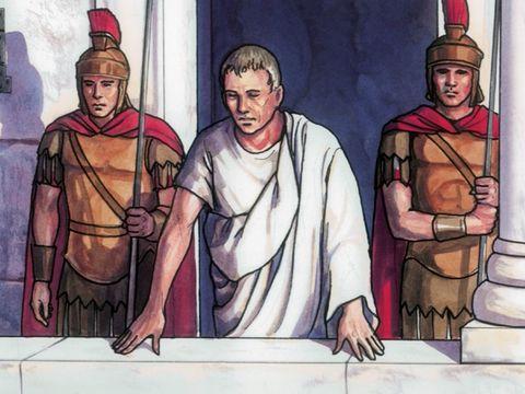 Le successeur d'Auguste, Tibère (14-37 après J-C), règne pendant le ministère de Jésus. Ponce Pilate est alors gouverneur de la Judée. Ponce Pilate va céder devant la foule et mettre à mort Jésus.