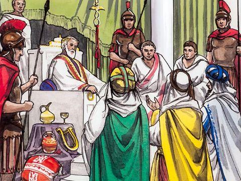 La visite de mages venus d'Orient à Jérusalem qui prévient le roi Hérode 1er le grand de la naissance du « roi des Juifs, le Messie promis, Jésus.