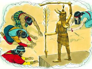 Les Cananéens étaient adorateurs du dieu Baal. Pour leur culte idolâtrique, ils construisaient de hauts-lieux au sommet des montagnes.