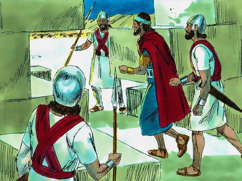 En 586 av J-C, la 19ème année du règne de Nébucadnetsar, après 1 an et demi de siège, la famine est terrible. Le roi Sédécias est capturé alors qu'il tente de s'enfuir.