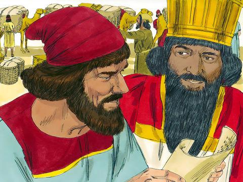 Après avoir appris la mauvaise nouvelle concernant Jérusalem, Néhémie pleure, prie et jeûne pendant des jours. Au mois de Nisan (mars) suivant, nous sommes alors en 444, le roi remarque la tristesse de Néhémie et l'autorise à se rendre à Jérusalem.