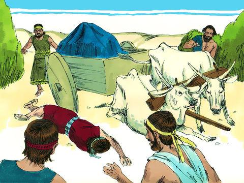 Uzza a touché l'arche en essayent de la retenir alors qu'elle menaçait de tomber, il meurt sur le coup