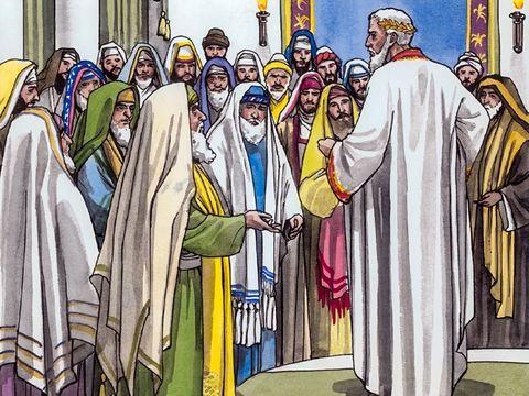 Hérode s'informe sur les prophéties bibliques pour connaître le lieu de naissance du Messie : Béthléem en Judée, selon le prophète Michée. 5 :1 : « Et toi, Bethléhem Ephrata, de toi il sortira pour moi celui qui règnera sur Israël.