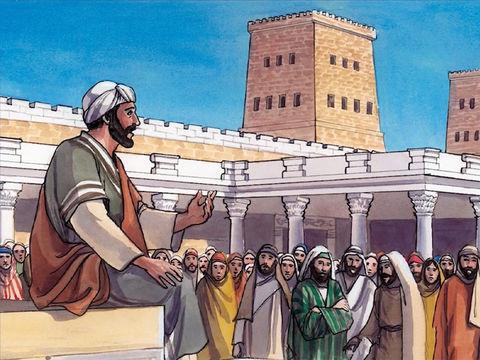 Jésus enseignait dans le Temple chaque jour. Il utilisait des paraboles pour toucher les coeurs.