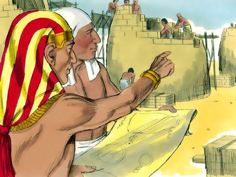 Joseph, fils de Jacob et de Rachel, a été vendu par ses frères en Egypte. Joseph est devenu intendant d'Egypte après avoir interprété les rêves de pharaon annonçant 7 années de famine après 7 années d'abondance. Il fait de grandes réserves de nourriture.