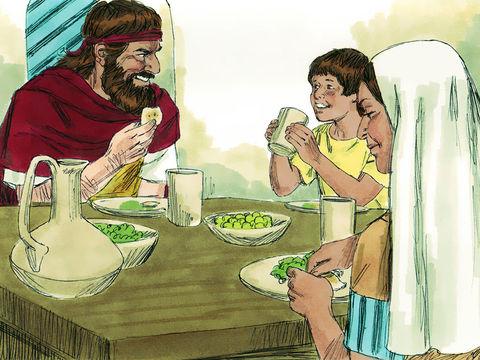 Un jour le fils de la veuve de Sarepta tombe malade et meurt. Elle en veut au prophète Elie et pense qu'il est responsable de la mort de son fils. Elle lui dit : Qu'as-tu contre moi, ô homme du vrai Dieu ? Es-tu venu chez moi pour faire mourir mon fils?