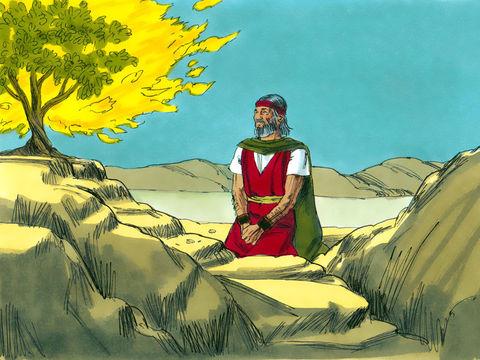 L'ange de Jéhovah communique à Moïse sa mission: aller vers le pharaon et libérer son peuple Israël d'Egypte.