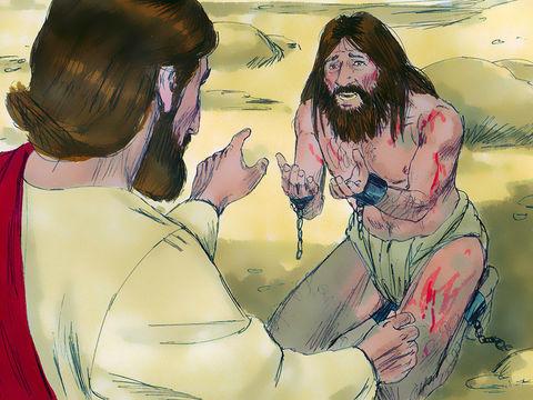 Jésus lui demande: «Quel est ton nom?» «Légion», répondit-il, car de nombreux démons étaient entrés en lui. » - Luc 8 :30.