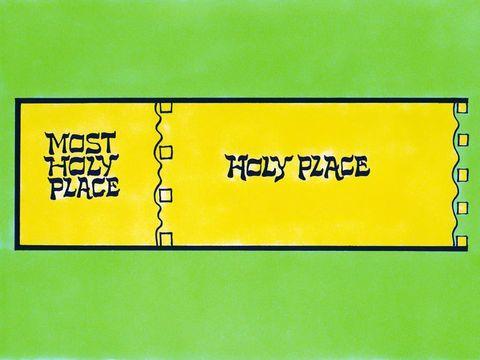le saint et le très saint du tabernacle étaient séparés par un rideau en lin.
