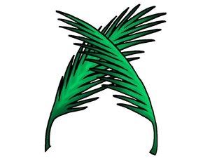 Les palmes symbolisent également la paix, la justice et la prospérité enfin retrouvées après la période difficile de la grande tribulation.