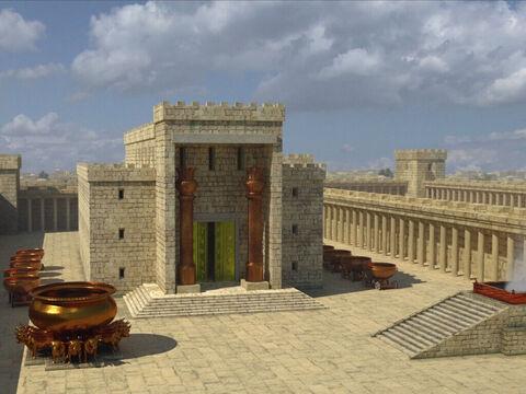 Le Temple de Salomon est le premier temple de Jérusalem dédié au culte de Jéhovah Dieu (ou Yahvé ou Yahweh). Il a été édifié par Salomon (970-930), fils de du roi David (1010-970), sur le mont Moria.