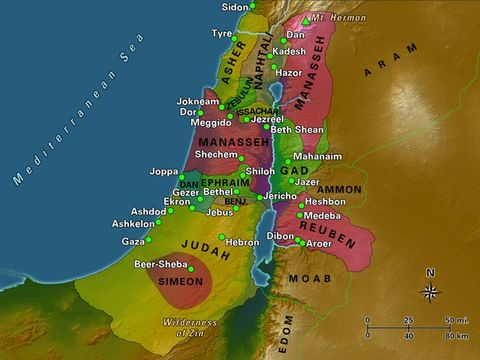 La crue du Kison a été utilisée par Dieu pour défaire l'armée cananéenne de Siséra. Le fleuve Kison constitue la frontière nord de la tribu de Manassé avec Aser et Zébulon. La ville de Mégguido revenait, après partage de territoire à la tribu de Manassé.
