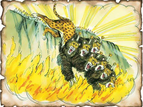 Il est évident que la bête à 7 têtes et 10 cornes n'existe pas, elle symbolise une organisation politique internationale. La bête et le diable qui est un esprit ne pourraient en aucun cas souffrir dans les « flammes de l'enfer ».