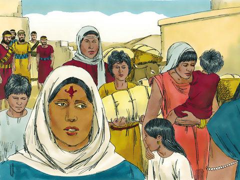 Alors qu'Esdras prie en pleurs, en s'humiliant devant Dieu, une foule d'Israélites, hommes, femmes, enfants se rassemble à ses côtés. Le peuple pleure abondamment. Finalement, les Juifs consentent à renvoyer leurs femmes étrangères et leurs enfants.