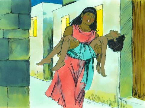Jéhovah envoie un ange exterminateur pour faire mourir tous les premiers-nés d'Egypte. De grands cris furent poussés dans toute l'Egypte, car il n'y avait pas une maison où il n'y eût un mort.