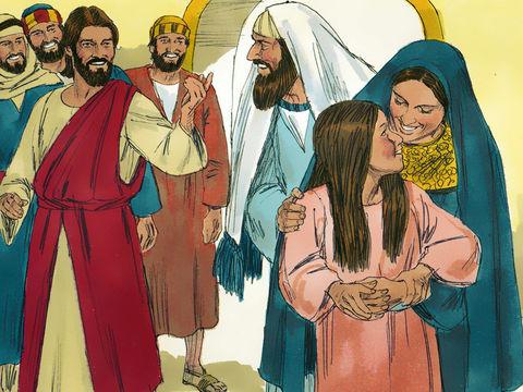 Ce n'était partout que pleurs et lamentations. Jésus dit : Ne pleurez pas ; elle n'est pas morte, elle est seulement endormie.