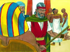 Les sauterelles se répandant sur la terre à la 5ème sonnerie de trompette rappellent la 8ème plaie d'Egypte utilisée par Jéhovah Dieu pour briser l'orgueil du pharaon et libérer Israël. En réalité ce sont des criquets pèlerins qui ont ravagé le pays.
