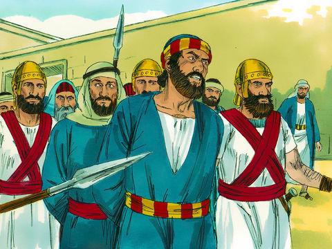 En entendant Pierre et Jean parler avec tant de foi de Jésus, les prêtres et les sadducéens en sont excédés et les font mettre en prison.